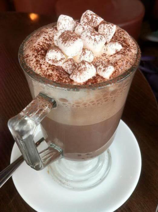 Кофе Лате с зефиром маршмеллоу