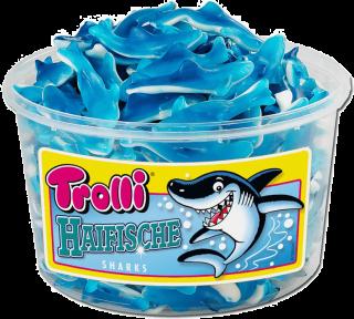 Жевательные конфеты Trolli Акулы, 1200 гр.
