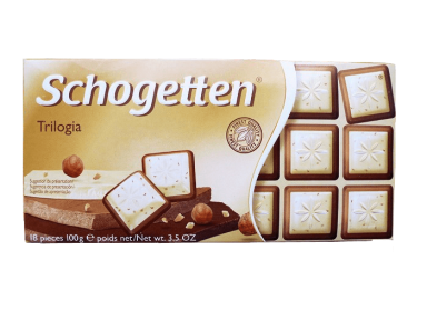Шоколад Schogetten 100 гр. Trilogiа