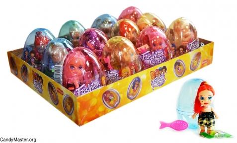 Модные девочки игрушка с драже, 6 гр., 12 шт.