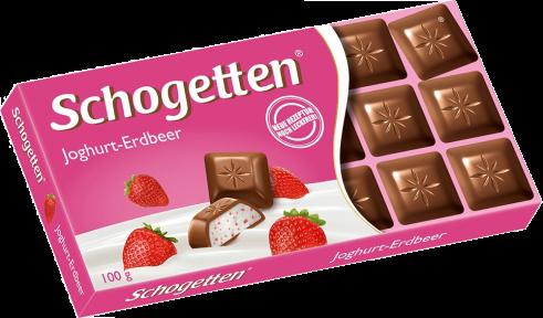 Шоколад Schogetten 100 гр. с наполнителем клубника