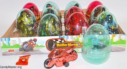 Мотоциклы игрушка с драже, 6 гр., 12 шт.