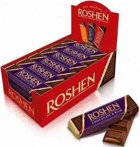 Шоколадный батончик Рошен с ромовой начинкой