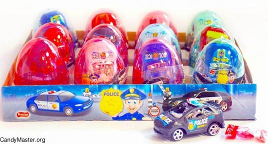 Полицейская машина игрушка с драже, 6 гр., 12 шт.