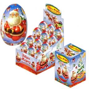 Шоколадное яйцо Дедушка Мороз