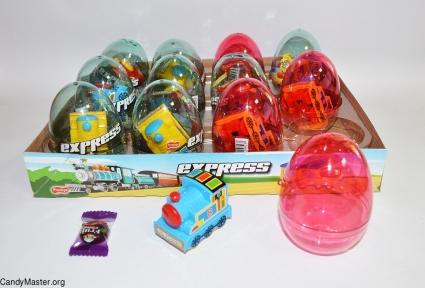 Поезд Express игрушка с драже, 6 гр., 12 шт.