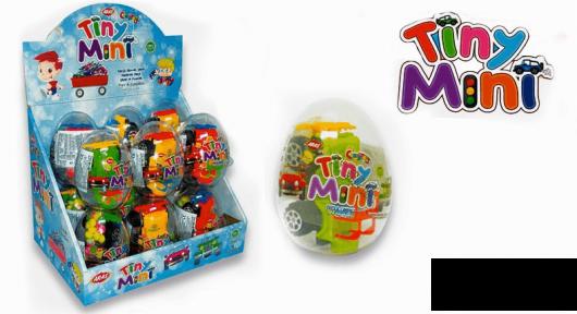 Пластиковое яйцо TINI MINI игрушка с сахарным драже 10 гр.