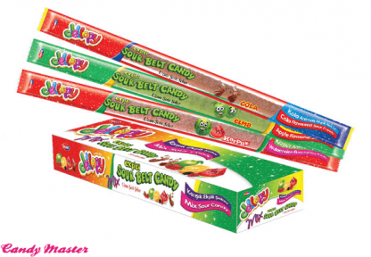 Мармеладная лента Jellopy Sourbelt Candy MIX 20 гр. 72 шт.