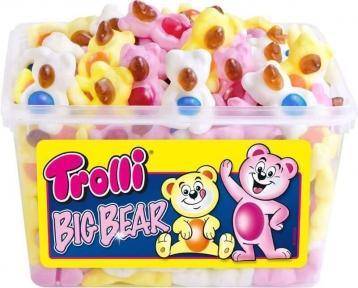 Жевательные конфеты Trolli Медвежата (банка), 1200 гр.