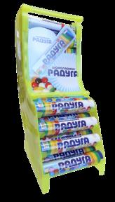 Шоколадное драже Радуга СТЕНД 17 гр., 48 шт.