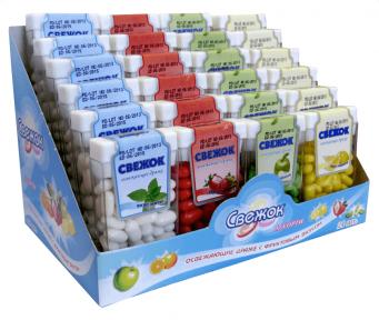 Сахарное драже Свежок 12 гр., 24 шт. (мини-горка)