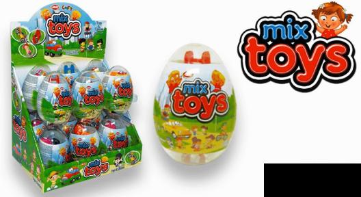 Пластиковое яйцо MINI MIKS игрушка с сахарным драже 10 гр.