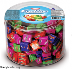 Жевательная конфета FRUTTINO  ассорти в банке  6 гр. 150 шт.
