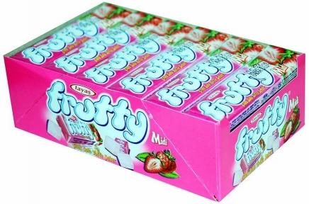 Жевательная конфета FRUTTI клубника 25 гр.