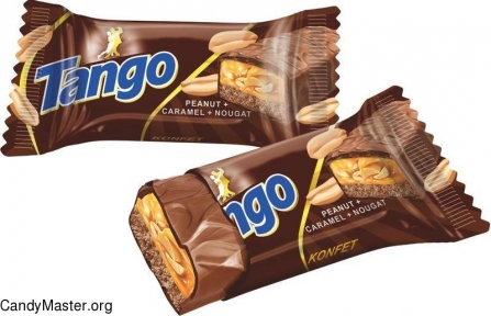 Шоколадный батончик Tango арахис/карамель/нуга 24 шт. 60 гр.