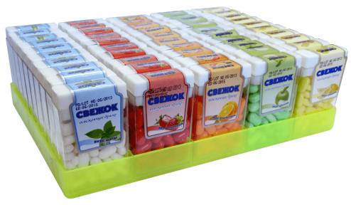 Сахарное драже Свежок 10 гр., 50 шт. (блок)