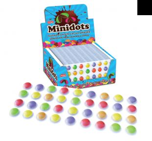 Шоколадное драже Minidots на блистере 16 гр., 24 шт.