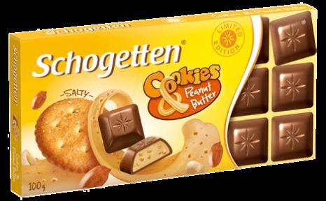 Шоколад Schogetten 100 гр. с печеньем