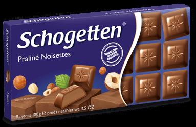 Шоколад Schogetten 100 гр. черный с лесным орехом