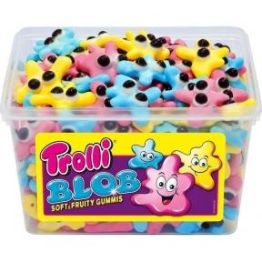 Жевательные конфеты Trolli Клякса, 1200 гр.