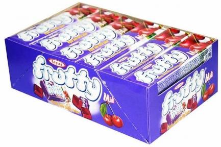 Жевательная конфета FRUTTI вишня 25 гр.