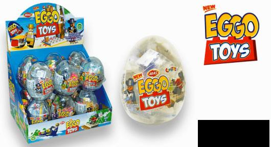 Пластиковое яйцо EGGO игрушка с сахарным драже 10 гр.
